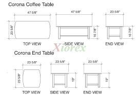 Coffee Table Standard Coffee Table Size Coffee Table Higher Than - Standard dining room table size