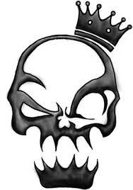 tribal designs skull tribal design
