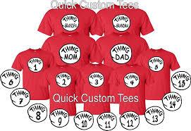 kids halloween shirts amazon com thing one thing two thing mom dad custom matching