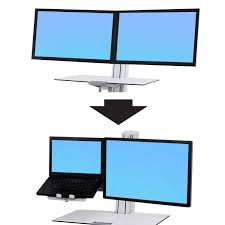 Stand Up Desk Conversion Kit by Workfit Conversion Kit Laptop Monitor Mounting System Ergotron