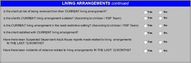 living arrangements dmhoma outcome measures older adult living arrangements