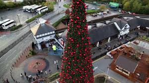 inside cheshire oaks u0027 90ft walk in christmas tree daily post