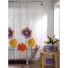 Transparent Shower Curtains Awesome Clear Shower Curtain With Design Homesfeed