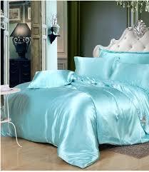 Teal Bed Set Silk Aqua Bedding Set Green Blue Satin Cal Super King Size Queen