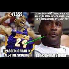 Greatest Memes Of All Time - 16 best memes of kobe bryant passing michael jordan on the all time