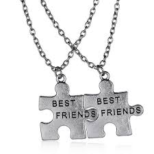 best friends puzzle necklace images Couple necklaces quot best friends quot puzzle necklace broken heart jpg