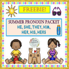 freebie summer pronouns he she they him her his hers tpt