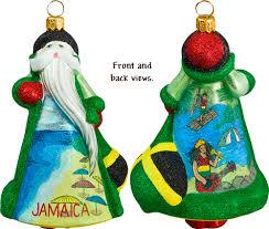 glass ornaments jamaica santa ornament