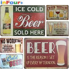aliexpress com buy beer metal poster slogan vintage metal