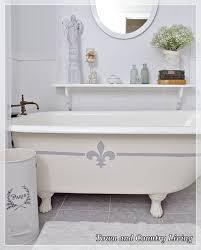 Fleur De Lis Home Decor Bathroom Painting The Claw Foot Tub Hometalk