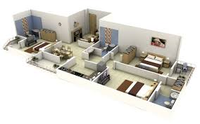 House Plans And Designs For 3 Bedrooms 50 Three 3 Bedroom Apartment House Plans Architecture Design