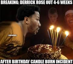 Candles Meme - nba memes happy birthday derrick rose facebook