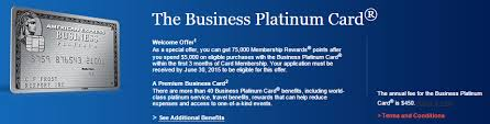 American Express Business Card Application American Express Business Platinum 75 000 Point Offer After 5 000