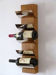 decor unique wall wine rack installations natural wooden with