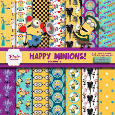 happy minions digital paper u0026 clipart despicable me inspired