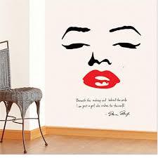 Marilyn Monroe Wall Decor Big Size Wallpaper Marilyn Monroe Wall Decor Quote Face Red Lips
