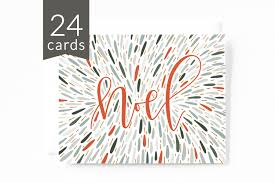 bulk christmas cards christmas card set of 24 illustrated noel card set