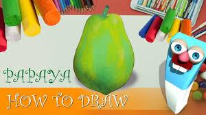 how to draw a green papaya l papaya easy drawing u0026 coloring for
