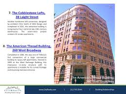 top 10 apartment buildings in new yorks tribeca