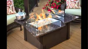 Glass Fire Pit Table Outdoor Fire Pit Propane With Glass Screen In The Middle Table