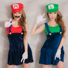Video Game Halloween Costumes Video Game Cosplay Super Mario Bros Cosplay Costume Mario Sisters