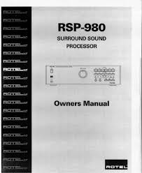 pdf manual for rotel amp rsp 970