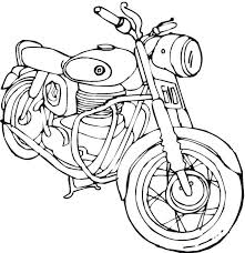 transportation motorcycle coloring pages transportation coloring