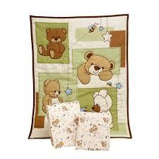 Small Crib Bedding Bedding By Nojo Dreamland Teddy 3 Portable Crib