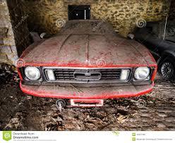rusty car old retro rusty car in village garage stock photo image 40457500