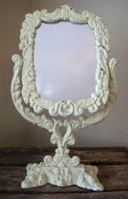 nice looking vintage vanity mirror makeup mirror on stand vintage