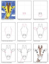 how to draw a giraffe kids org giraffe and tutorials