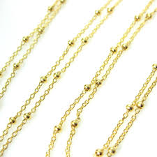 plated necklace chains images 22k gold plated over sterling silver chain satellite chain beaded jpeg