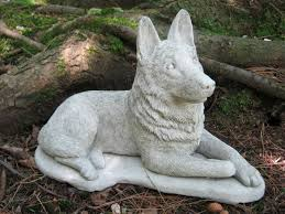 Statues For Home Decor by German Shepherd Dog Concrete Dog Statue Cement Statue