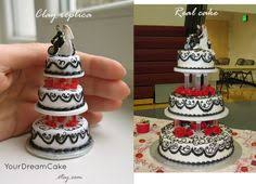 wedding cake replica wedding cake ornament 1st by yourdreamcake