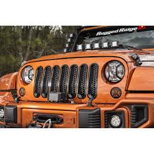 orange jeep cj rugged ridge 11306 31 grille inserts mesh black 07 17 jeep wrangler