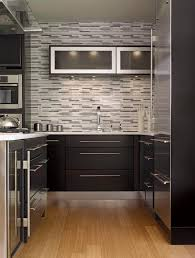 black backsplash in kitchen black tile backsplash kitchen contemporary with bar pulls black