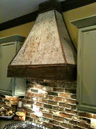 interior design cozy brick backsplash with white pendant lighting
