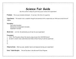 science fair report template science project board template images resume ideas