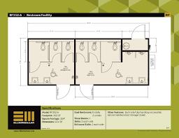 Portable Building Floor Plans Homey Idea 5 Restroom Floor Plan Plans For Portable Modular