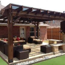 patio pergola featuring the post base kit and timber bolts by ozco
