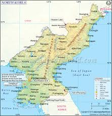 Map Of Mountains In United States by North Korea Map Map Of North Korea