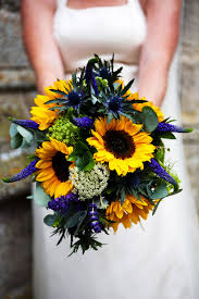 Sunflower Wedding Bouquet Be Colourful With Sunflowers Wedding Flowers In The Hottest