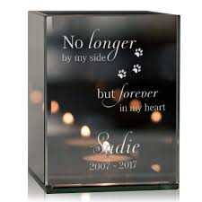 memorial candle in my heart pet memorial candle holder