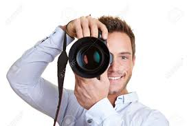Professional Photographer 12361549 Happy Professional Photographer With Digital Dslr