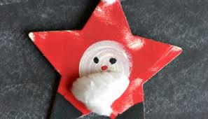 santa themed starfish ornament glued to my crafts