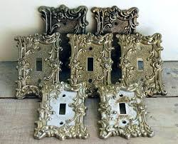 custom light switch covers brass light switch plates seven swirly vintage ornamental antique