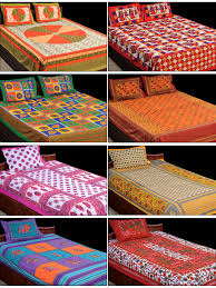 buy rangbirang rangoli 4 double u0026 4 single bed sheets with 12