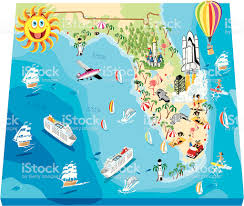 Map Of Florida by Cartoon Map Of Florida Stock Vector Art 165767723 Istock
