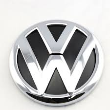 volkswagen logo black and white oem rear trunk lid badge emblem chrome logo fit vw jetta mk6 vi 6