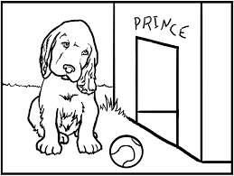 cute dog animal coloring page for kids pages and free animal